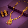 Sukkhi Temple Matte Finished Gold Plated Necklace Set For Women