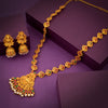 Sukkhi Classic Matte Gold Plated Temple Jewellery Necklace Set For Women