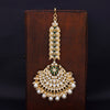 Sukkhi Fabulous Gold Plated Kundan & Pearl Mangtikka For Women