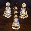 Sukkhi Ritzy Peacock Gold Plated Kundan & Pearl Mint Earring Mangtikka For Women