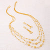 Sukkhi Bollywood Collection Modern 3 String Gold Plated Necklace Set for Women