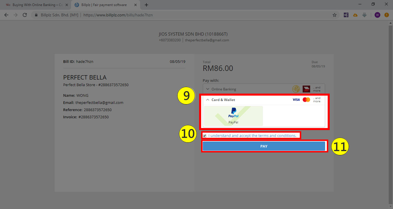 Payment Guide – Perfect Bella Store