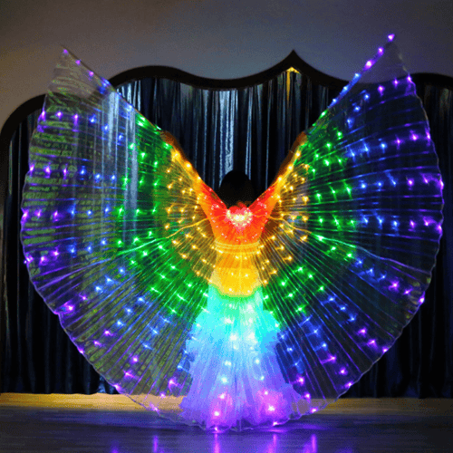 COLORFUL BUTTERFLY LED WINGS