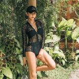 NO DRAMA LACE SWIMSUIT
