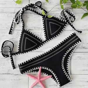 KIMBERLY LACE UP BIKINI SET