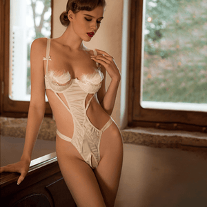 SOMEBODY TO LOVE  LACE SATIN TEDDY