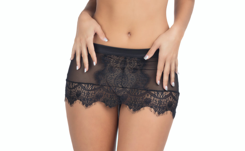 Eyelash Lace Skirtini