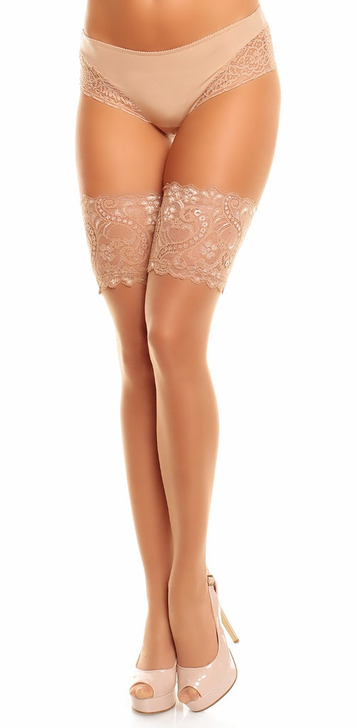 Glamory Plus Comfort 20 Hold Ups in Beige