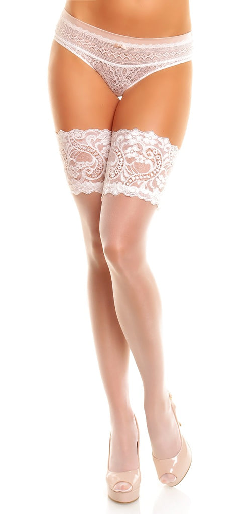 Glamory Plus Comfort 20 Hold Ups in White