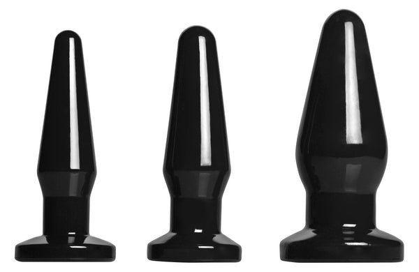 Level Up 3 Piece Anal Plug Set Black
