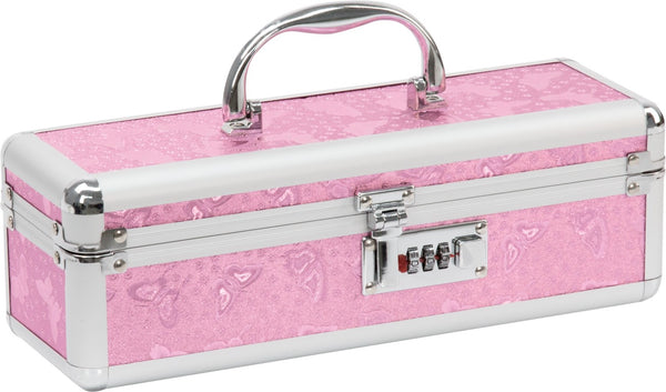 Lockable Medium Vibrator Case Pink