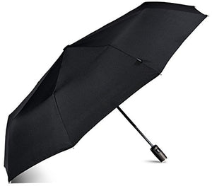 LifeTek Windproof Travel Umbrella Compact Automatic Open Close Small Folding Teflon Repellent Canopy Umbrellas fits Golf Purse Backpack Wind Resistant for Men and Women Traveler FX1 42 inch Black