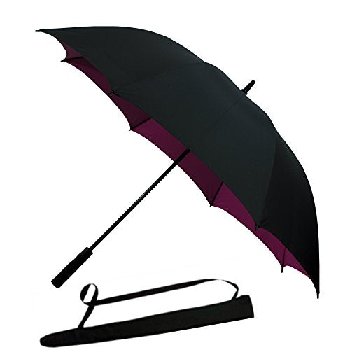 Windproof Golf Umbrella Automatic Open Extra Large 60 inch Oversize Double Canopy Waterproof Stick Umbrellas