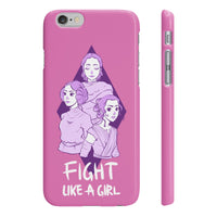 """Fight Like a Girl"" - Purple, Smartphone Case"