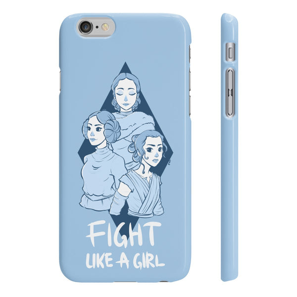 """Fight Like a Girl"" - Blue, Smartphone Case"