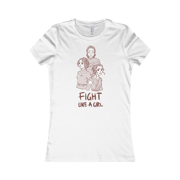 """Fight Like a Girl"" - Brown Lineart, Women's Favorite Tee"