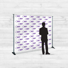 Step and repeat vinyl banner