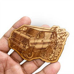 Engraved Wood Stickers