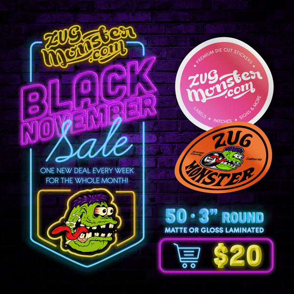 BLACK NOVEMBER SALE - Round Stickers