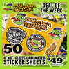 "DOTW - 50 4""x6"" Gloss Laminated Sticker Sheets"