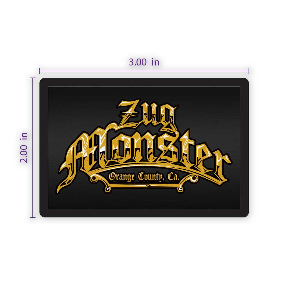 "3"" x 2"" Rectangular Custom Patch with Adhesive & Black Border"