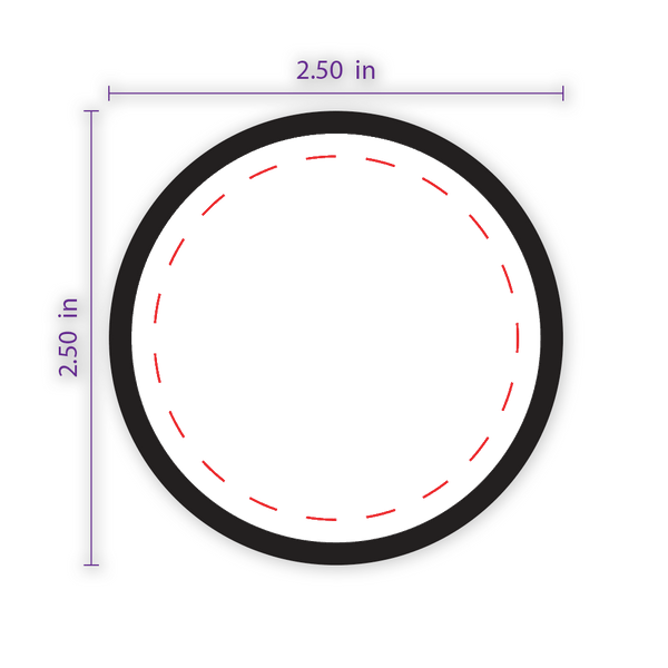 "2.5"" Round Custom Patch with Adhesive & Black Border"