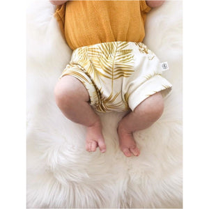 Theo organic bum cover - Golden Palms* - Sew Contented Handmade