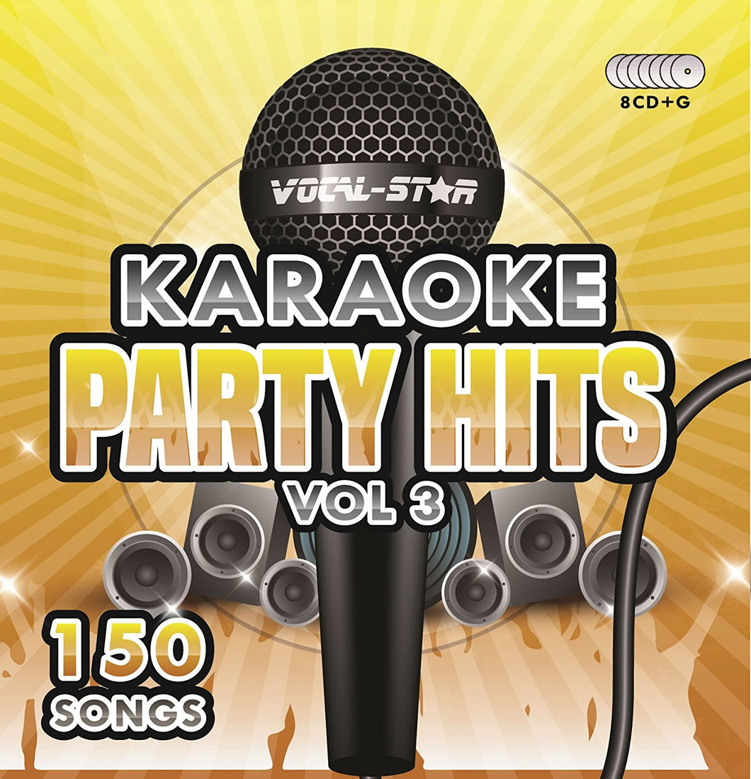 VOCAL-STAR PARTY HITS 3 KARAOKE DISC SET 8 CDG DISCS 150 SONGS