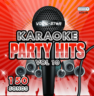 VOCAL-STAR PARTY HITS 10 KARAOKE DISC SET 8 CDG DISCS 150 SONGS