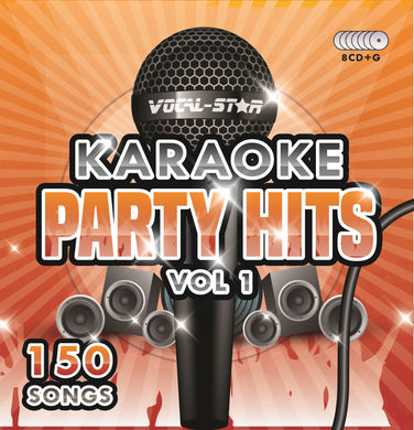 VOCAL-STAR PARTY HITS 1 KARAOKE DISC SET 8 CDG DISCS 150 SONGS