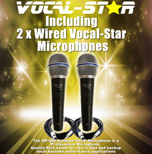 Vocal-Star VS-1200 HDMI Pro Smart Karaoke Machine Set with Bluetooth & 150 Popular Chart Songs