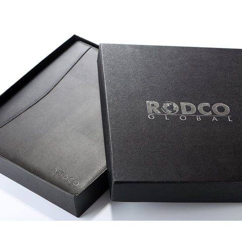 RODCO GLOBAL Executive Portfolio Padfolio, Premium PU Leather with 4 Ring Binder - Rodco Global