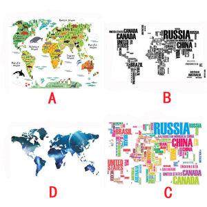 Home or Office Removable Vinyl World Map Sticker - Rodco Global