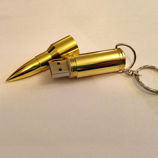 Bullet Shape Gold USB Memory Flash | From 4 to 32 GB - Rodco Global