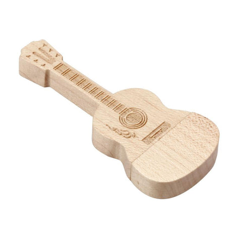 Wooden Guitar - USB 3.0 32GB Flash Drive - Rodco Global