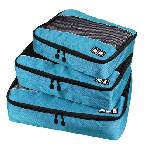 3 Piece Blue Packing Cubes Travel Accessories by BAGSMART - Rodco Global