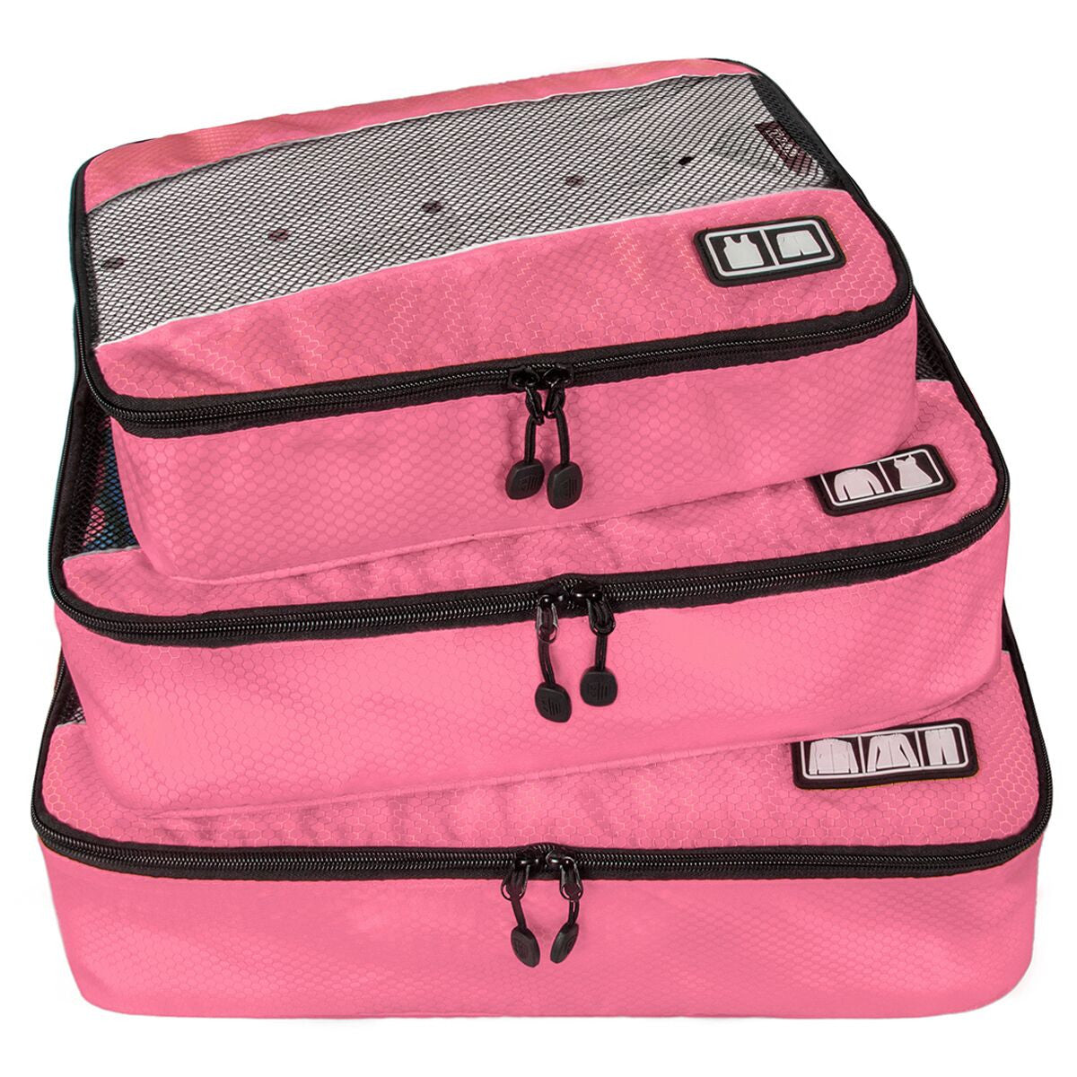3 Piece Pink Packing Cubes Travel Accessories by BAGSMART - Rodco Global