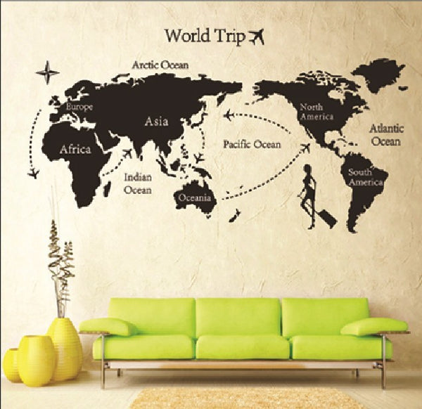 DIY Removable Vinyl Travel World Map Wall Sticker 140*80CM - Rodco Global