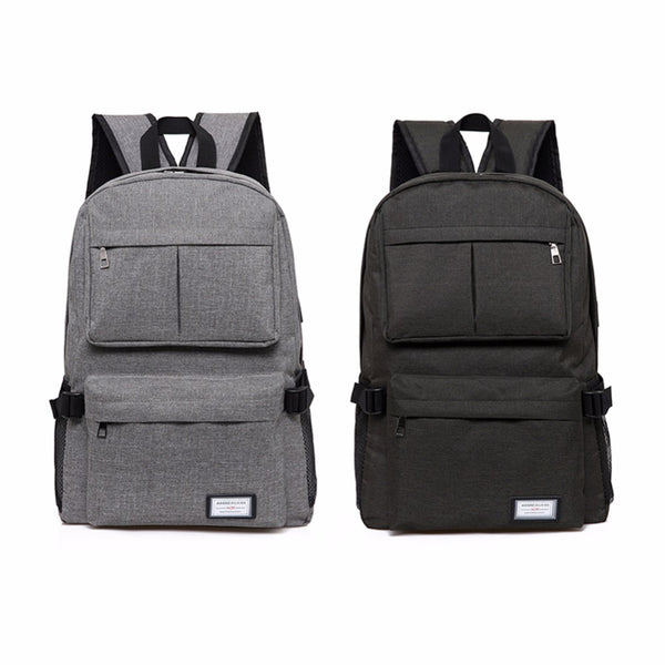 Unisex Polyester Leisure Backpack with USB Charging Port - Rodco Global
