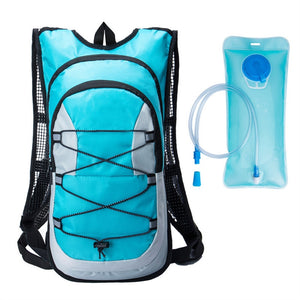 Travel Bike/Hiking Backpack Hydration Rucksack with Pouch + 2L Hydration Bladder - Rodco Global
