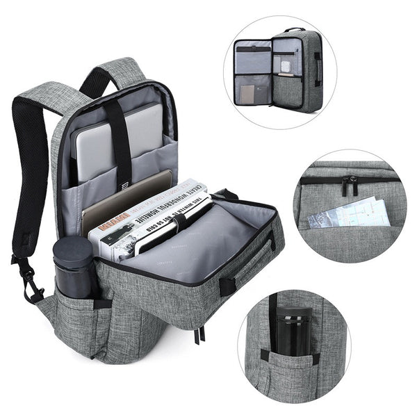 Unisex 15.6 Laptop Backpack Convertible Briefcase 2-in-1 Business Travel Luggage Carrier - Rodco Global
