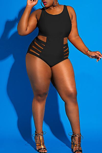 Graphic Print High Rise Plus Size Colorful One Piece Swimsuit