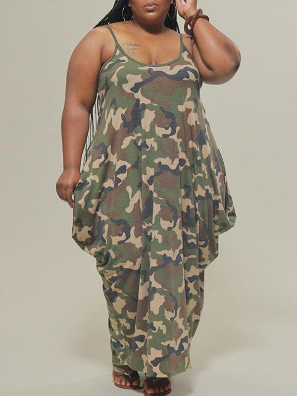 Plus Size Camo Cami Dress