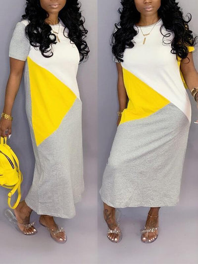 Colorblock Tee Dress
