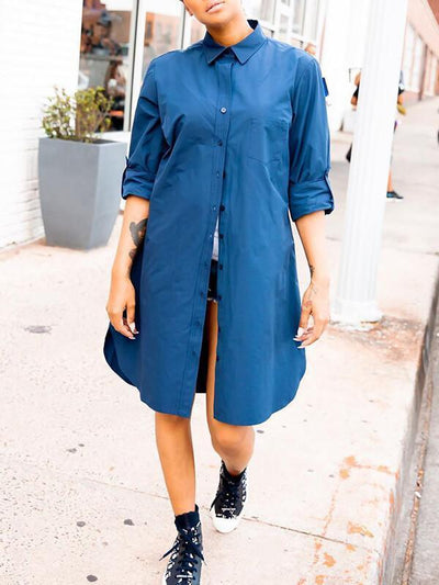Tabbed Sleeve Shirt/Dress