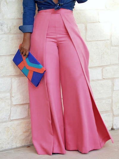 Asymmetric Wide-Leg Pants