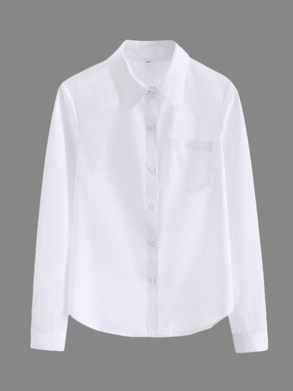 White Button-Front Shirt