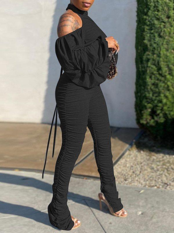 Backless Ruched Jumpsuit