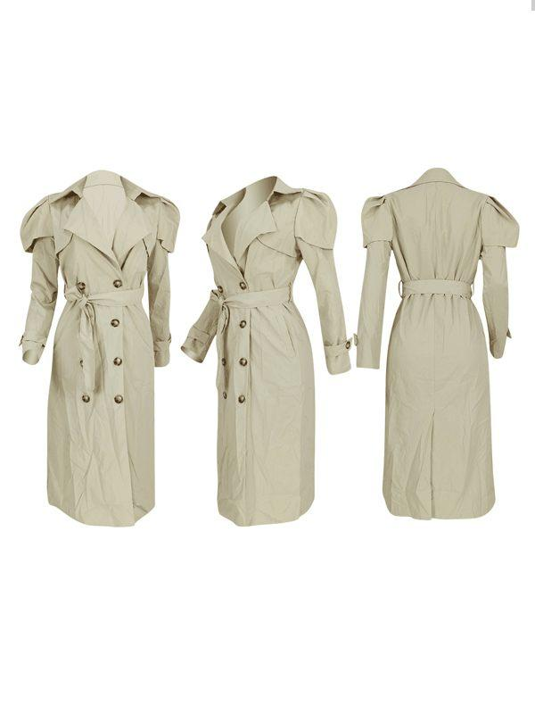 Puff Sleeve Trench