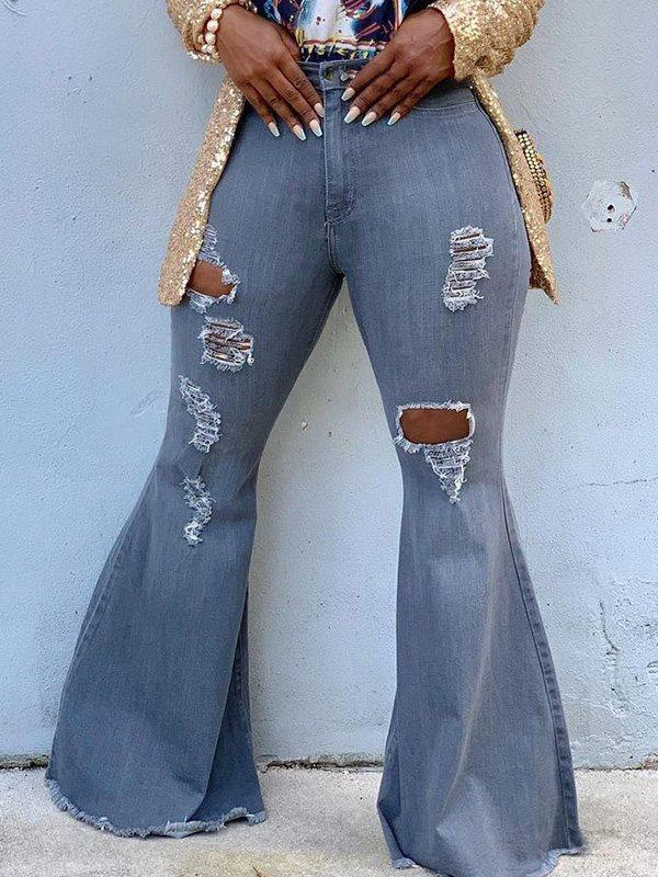 Distressed Flared Jeans